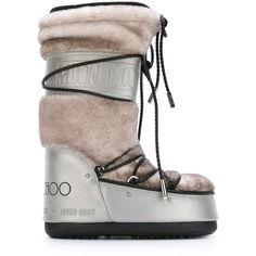 77db800129e Jimmy Choo Jimmy Choo x Moon Boot snow boots (£546) ❤ liked on
