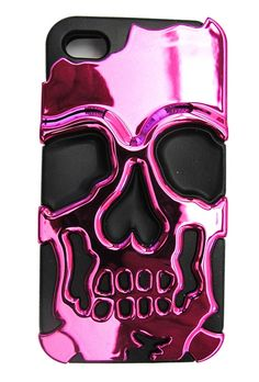 Inked Pink Metallic Skull iPhone Case  www.inkedshop.com/inked-pink-metallic-skull-iphone-case.html?acc=cfcd208495d565ef66e7dff9f12345ab