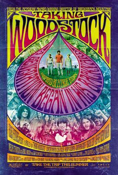 Taking Woodstock: The late psychedelic rock poster. Art by wteresa Woodstock Hippies, Woodstock Poster, Woodstock Music, Woodstock Concert, 1969 Woodstock, Taking Woodstock, Festival Woodstock, Psychedelic Rock, Psychedelic Posters