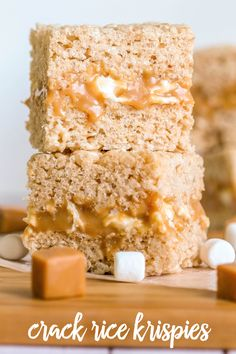 Crack Rice Krispies - an addiction version of Rice Krispies that will leave you wanting more. Candy Recipes, Sweet Recipes, Baking Recipes, Dessert Recipes, Bar Recipes, Popcorn Recipes, Fudge Recipes, Yummy Recipes, Sweets