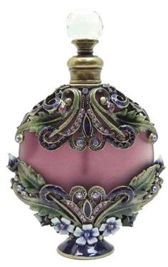 purple filigree perfume bottle