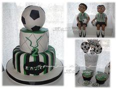 Bolo Futebol, modelagens, cupcakes, bolachas, cakepops, e brigadeiros