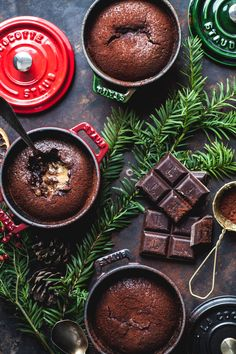 Christmas Chocolate Pudding - www.madelinelu.com