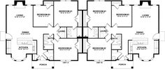COOL house plans offers a unique variety of professionally designed home plans with floor plans by accredited home designers. Styles include country house plans, colonial, Victorian, European, and ranch. Blueprints for small to luxury home styles. Country House Plans, Best House Plans, Duplex Floor Plans, Duplex Design, Multi Family Homes, Apartment Plans, House Blueprints, Kitchen Units, Rental Property