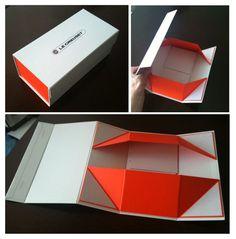 Em alguns segundos você tem uma embalagem resistente e bonita! Criativa embalagem que desmonta, economiza espaço e pode ser reutilizada.Criativa e Multifuncional! Designed by Le Creuset
