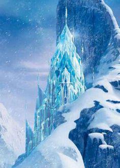 Elsa's-Frozen-castle cake research photo