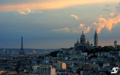 Tour Eiffel & Sacré Coeur @ Paris / Sunset