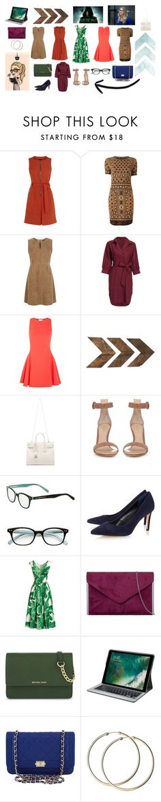 """""""My Felicity Smoak Outfit"""" by dakshapathak on Polyvore featuring Alexander McQueen, Weekend Max Mara, Halston Heritage, WALL, Yves Saint Laurent, Gianvito Rossi, Kate Spade, Dolce&Gabbana, MICHAEL Michael Kors and Logitech"""