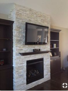 Fireplace Makeover Crystal White Quartzite 6x24