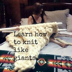 Free guide on how to make your own giant, 5 foot long knitting needles and how to knit a giant wool roving blanket. Extreme knitting could become your new addiction.