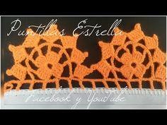 puntilla #89 - YouTube Crochet Lace, Crochet Stitches, K Crafts, Crochet Decoration, Crochet Fashion, Fringes, Crochet Earrings, Cross Stitch, Knitting