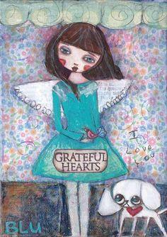 Suzi Blu & Gigi Folk Art ange / fée Print original par SuziBlu
