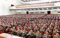 위대한 수령 김일성대원수님께서 조선인민혁명군을  정규적혁명무력으로 강화발전시키신 69돐기념 인민무력성보고회 진행