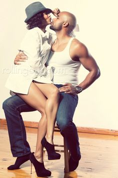 Boris & Nicole Kodjoe in Rolling Out Magazine