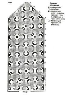 Knitting Charts, Knitting Stitches, Knitting Patterns, Knitted Mittens Pattern, Knit Mittens, Wedding Cross Stitch Patterns, Crochet Bookmarks, Crochet Chart, Tapestry Crochet