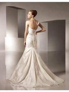Bateau Informal Wedding Dress A-line Silhouette