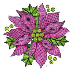 Pattern Play with Pens: Merry Christmas to all my Zentangle Friends