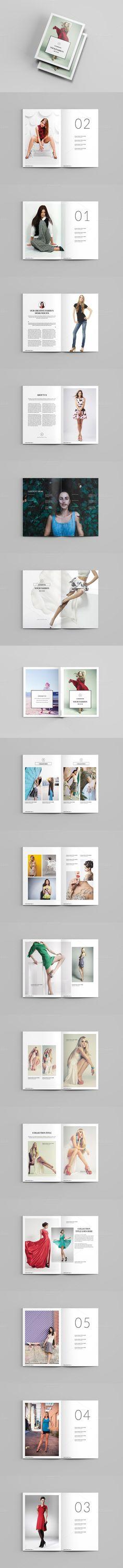 Modern Fashion Brochure Modern fashion, Brochures and Brochure - fashion design brochure template