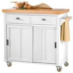 Butcher Block Kitchen Cart Canada : Cuisine Butcher Block Kitchen Island Cart with Back Splash and Galley Kitchen Islands ...