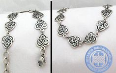 Celtic heart necklace by Walker Metalsmiths. Available in silver or gold.