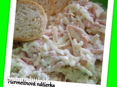 Hermelínová nátierka Snack Recipes, Cooking Recipes, Czech Recipes, Appetizer Dips, Appetisers, Party Snacks, Cabbage, Recipies, Toast