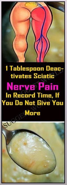 1 Tablespoon Deactivates Sciatic Nerve Pain In Record Time, If You Do Not Give You More #nervepain #health #pain #remedies #disease