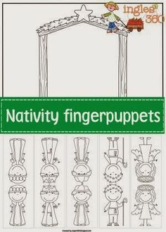 Ingles360: Nativity finger puppets