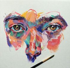 Image about beautiful in art by skinpollution Arte Gcse, Art Sketches, Art Drawings, A Level Art Sketchbook, Guache, Ap Art, Pastel Art, Pretty Art, Portrait Art