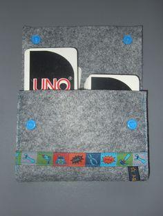 Filztasche für UNO-Karten Felting, Cards, Bags