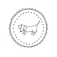 Hand Embroidery Dachshund Dog Wiener Dog Pattern Printable Sausage Animal Digital Downloadable 0058