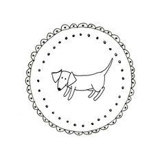 Hand Embroidery Dachshund Dog Wiener Dog Pattern Printable Sausage Animal Digital Downloadable