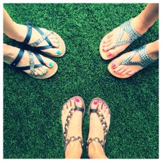 Summer sandal style!  I have a pair of the black/snake skin sandals. Not only nice looking, but also comfy. Love them!