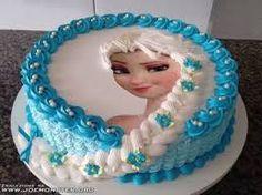 Znalezione obrazy dla zapytania kraina lodu tort