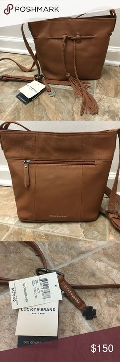 Lucky Brand  Cross Body Leather Purse 100% genuine shadow leather lucky brand cross body purse. Multi pockets. Never used! Lucky Brand Bags Crossbody Bags
