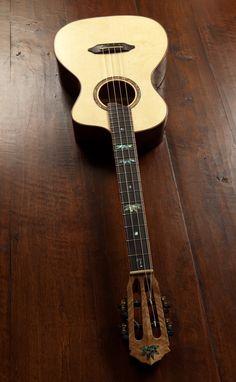 Custom Baritone Ukulele, Myrtlewood, crafted by custom ukulele builder Jay Lichty, Lichty Ukuleles