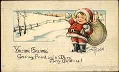 Yuletide Greetings Charles Twelvetrees Santa Claus