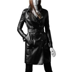 Exotic range of studded Leather Coats for Women.studded Leather coat, with buttoned Snap collar and buttoned front end closure. Buy Womens Leather Coats on sale.