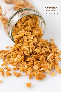 Coconut Granola - I LOVE this granola! It's so good and it's easy to make. It uses coconut oil instead of butter or vegetable oil.