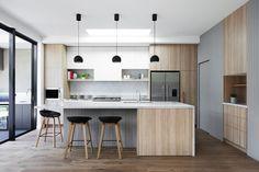 Shasta House by Austin Design Associates / Photographer: Armelle Habib Cabinet Design, Door Design, Tudor Style Homes, Scandinavian Kitchen, Small Appliances, Beautiful Kitchens, Adjustable Shelving, Kitchen Design, Kitchens