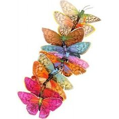 Butterfly Garland: Pretty. Love the colors. by penny1648