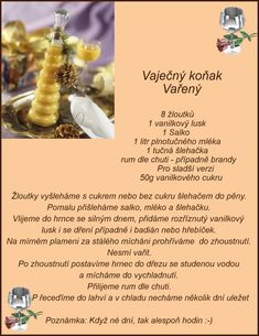 Vaječný koňak Christmas Candy, Christmas Cookies, Czech Recipes, Holidays And Events, Happy New Year, Sweet Recipes, Smoothie, Food And Drink, Yummy Food