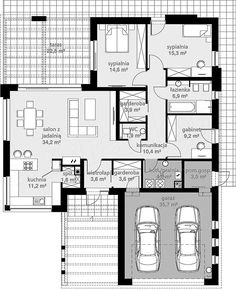 Beautiful House Plans, Dream House Plans, House Floor Plans, Bungalow House Design, Small House Design, Building Design, Building A House, Best Home Plans, Bike Storage