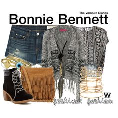 Inspired by Kat Graham as Bonnie Bennett on The Vampire Diaries. Vampire Diaries Costume, Vampire Diaries Outfits, Vampire Diaries The Originals, Bonnie Bennett, Character Inspired Outfits, Rebecca Taylor, Polyvore Fashion, Style Me, Cute Outfits