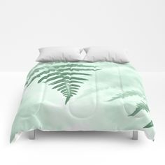 Fern #Comforters by ARTbyJWP from #Society6 #bedroom #homedeco #artprints #buyart  #botanical #green #leaves   ---Our comforters are cozy, lightweight pieces of sleep heaven. Designs are printed onto 100% microfiber polyester fabric for brilliant images and a soft, premium touch. Lined with fluffy polyfill and available in king, queen and full sizes. Machine washable with cold water gentle cycle and mild detergent.
