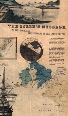 Queen Victoria's Message - Telegraph chart, America and Europe. Submarine Cable, Tapestry Of Grace, Trail Of Tears, James Buchanan, Oregon Trail, Old Newspaper, Interesting Information, European History, American Civil War