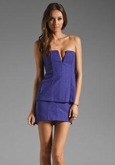 Shona Joy Violet Haze Bustier Dress in Violet