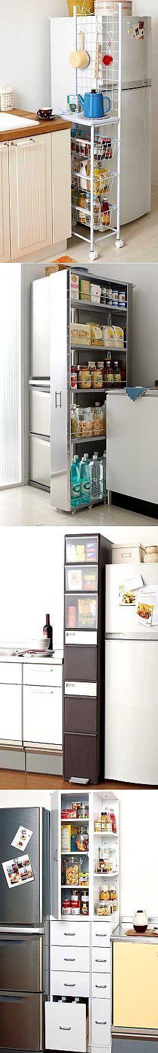 Идеи для маленькой кухни: используем место у холодильника - Учимся Делать Все…
