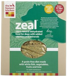 Honest Kitchen Zeal, Grain-Free Dehydrated Raw Dog Food w/ Wild-Caught White Fish, 4lb « dogsiteworld.com