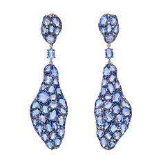 Betteridge Collection Sapphire & Diamond Drop Earrings
