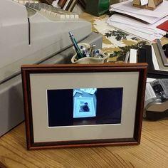 My new photodispaly on service desk.
